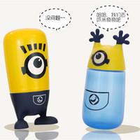 Wholesale 2016 Portable Cute Baymax Minions Water Bottle ml BPA Free Water Bottle for Kids Teen Girls Cartoon Kids Candy Bottle Cup