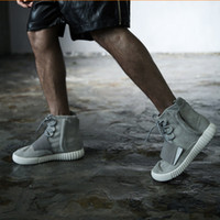 Wholesale 2015 New High Cut Skate Board Shoes yeezy boost Sport Shoes Fashion Men Women West Kanye Casual Sneakers Ankle Boots