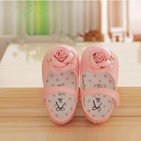 baby formal shoes - Spring Autumn white flowers baby girl leather shoes for vestido infantil on formal baptism first communio wedding party