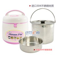 Wholesale Stew pot roast l stainless steel free fire reboiler heat preservation bucket sauceboxes soup cooker b