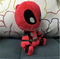 Wholesale 1000pcs CCA3452 High Quality cm Cartoon Movies Deadpool Plush Toys Soft Doll PP Cotton inch Deadpool Stuffed Animals Kids Stuffed Dolls