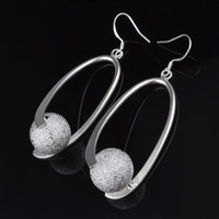 Wholesale Factory price sterling silver matte O Dangle Earrings fashion jewelry for women Top quality