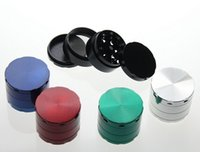 Wholesale Grinder smoking grinder tobacco metal grinder good quality mix colors mm parts parts parts factory cost