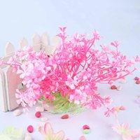 Wholesale Pink Aquarium Fish Tank Aquatic Dwarf Plastic Plant Ornament Simulation Flowers Plants