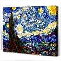 best digital frame - The Best Pictures DIY Digital Oil Painting Paint By Numbers Christmas Birthday Unique Gift x50cm Van Gogh Starry Night D013