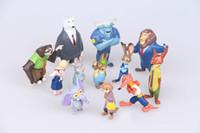 Wholesale 12 Zootopia Pvc Action Figures Toy Animal dolls Anime Utopia Nick Fox Judy Rabbit toy for gift