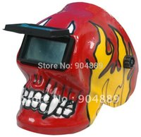 art welding helmets - Red Skeleton Art Solar Auto Darkening Welding Helmet Autodark Mask for ARC TIG PLASMA CUTTER welding machine
