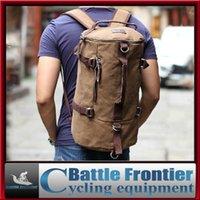 Wholesale Unisex Men s Vintage Canvas Single Shoulder Backpack Rucksack Laptop Shoulder Travel Hiking Camping Bag Waterproof Outdoor Sport