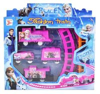 Wholesale Frozen Hot electric rail car toys DIY children s Educational Model Toys Factory Direct