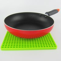 Wholesale 4 color honeycomb shape Silicone hot mat Creative fashion quality Anti slip table PVC pot pad Coasters Bowl pad Disc pad