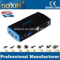 Wholesale 16800mAh A V car battery multi function jump starter for V A V A V A V A emergency car jump starter with LED light