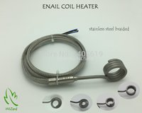 Wholesale NAIL COIL HEATER STAINLESS STEEL BRAIDED SLEEVE THERMOCOUPLE K With XLR SUPPORT CUSTOM