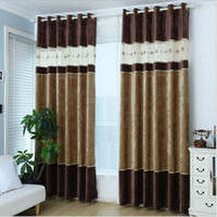 Wholesale Kitchen Curtains Included Rushed Hot Sale Tulle Cortinas Para Sala Curtains Chenille Curtain Fabric Bedroom Luxury Villa