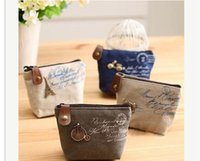 twist tie - Womens Girls Retro Canvas Coin Purse With Different Mental Decorations Change Cards Bag Fashion Wallets DHL