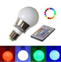 Wholesale New E27 W RGB Big Ball LED Bulb Lamp Key Color Remote Control V V Memory Function
