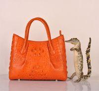 Wholesale High end handbags fashion crocodile handbags casual handbags crocodile handbag New