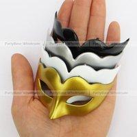 masquerade decorations - 48pc mini masquerade mask solid color plain mask carnival party decoration