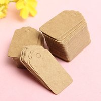 Wholesale 100 Festival Hot Sale Wedding Party Label Kraft Paper Decoration Square Shape Blank Price Tag Craft Cards x3cm
