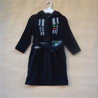 Wholesale winter long sleeve star wars clothing for kids Darth Vader modeling fleece bath robe SW1020