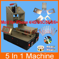 iPhone 5/5c/5s/6/6+/6s/6s+Frame Laminate machine - 5 in LCD Frame Separator Laminator Machine Glue Removal Middle Bezel Touch Screen Repair for iphone s plus