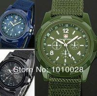 Wholesale Fashion Black Green Mens Gemius Swiss Army Wrist Watch Military Army Pilot Sport Watch men Hot selling