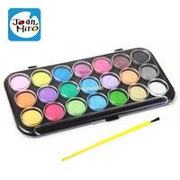 Wholesale hot sale Joanmiro washable non toxic paint pigment crystallise solid watercolor watercolor set with pen