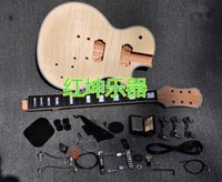 Wholesale 2016 Unfinished Electric Guitar Kit With Flamed Maple Top DIY guitar For Custom Shop Style
