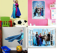 Wholesale Mixed Order Frozen Movie Cartoon Wall Stickers Kids Room Nursery Wall Decals styles