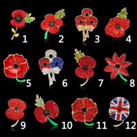beautiful african american women - Brooch for Women Cheap Very Beautiful Sparkle Red Crystal Rhinestone Poppy Brooch Pins Christmas Brooches