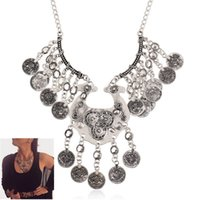 african names - 2015 new necklace spot supply foreign trade selling big name retro exaggerated alloy Coin Necklace
