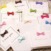 beautiful greetings card - 300 pics a Beautiful and lovely small bowknot CARDS birthday greeting card thank you CARDS