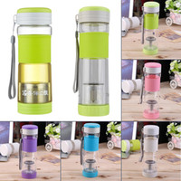 Wholesale NEW Healthy Portable Travel Sport Tea Water Seal Bottle ml Travel Mug With Filter Strainer Tea Seal Bottles grey