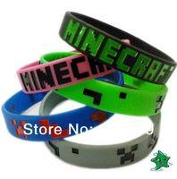 Wholesale HOT Minecraft Wristband creeper bracelet Accessories Souvenir Bracelet My World Coolie Face JJ Strange Fear SiliconeSame Day Shipping