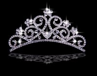 Cheap Cheap Hair Accessories Korea Shining Wedding Bridal Crystal Veil Tiara Crown Headband Crown Wedding
