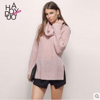 backing up computer - Top Selling Women Sweater Autumn Winter Pullover Knitwear Neck Back Lace Up Loose Jumper Knit Tops Blusas Pull Femme