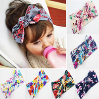 Wholesale New Baby Kids Girls Child Toddler Infant Flower Floral Bow Hairband Turban Knot Rabbit Headband Headwear Hair Band Accessories