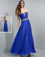Cheap 2015 Bule Chiffon A Line Crystals Beading WOW Prom Dresses 6003 Ruched Sash Floor Length Zipper Backless Winter Formal Cheap Evening Gowns