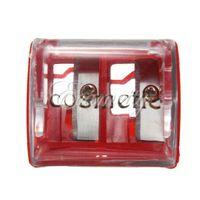Wholesale 2 Holes Precision Makeup Cosmetic Pencil Sharpener Eyebrow Lip Liner Eyeliner Stationery Makeup Tools New