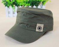 Wholesale 2015 Hot Sale Korean Caps Men Military Hats Pure Color Star Pattern All Cotton Five Colors