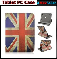 Wholesale 360 Degree Rotating Retro UK Flag PU Leather Flip Case Holder Stand Cases Portable Cover For Universal inch inch inch Tablet PC