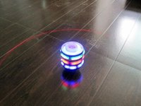 Wholesale J35 Single Laser LED Music Gyro Colorful Light Plastic Peg Top Spinning Classic Toy