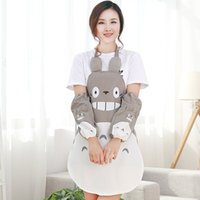 Wholesale Cute Totoro water and oil aprons Korean version of the cartoon fashion creative kitchen home cooking aprons long sleeve cuff