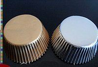 Baking Cups baking mini cakes - Mini gold silver foil cupcake cases papers muffin liners cake cups baking mould