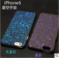 al por mayor estera de manzana-El más reciente de la piel dura 3D de la caja de la PC de la fluorescencia del brillo de la estrella del cielo nocturno de la estera para el iPhone 4S 6 6S Plus 5 5S DHL