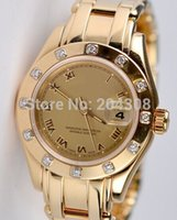 Cheap Factory Seller Luxury Brand New 80318 18k Yellow Gold Ladies Diamond Watch Women's Automatic Date Sport Wrist Watches