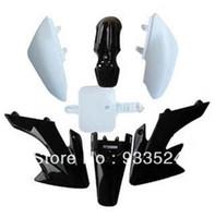 atv body kits - New Black Plastics Body Kit Fender Faring for HONDA CRF XR XR50 CRF50 SSR SDG PIT BIKE c cc cc dirt bikes ATV order lt no track