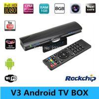 Wholesale VSMART V3 Android TV Box Mini PC Rockchips RK3066 Cortex A9 Max GHz GB GB Dual Core Media D GPU Build in MP