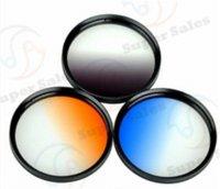 Wholesale Filter kit Gradual Grey Orange Blue filter set bag for Nikon D3000 D5200 D5100 D3100 D3200 mm