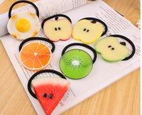 Wholesale Korean new fruit style girl hair bands Lemon hair bands EMS
