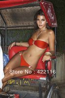 Wholesale 2013 spring summer style fashion sexy ladies female bikini swimsuit with chest pad no steel prop split T32